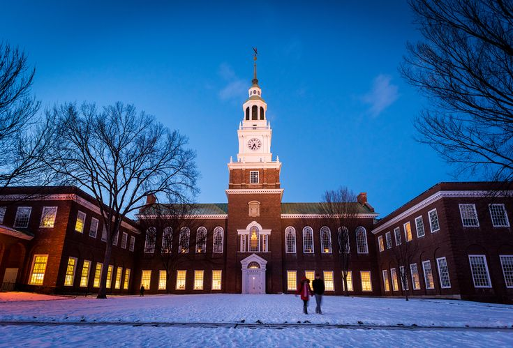 The iconic Baker-Berry Library Library at Dartmouth College.