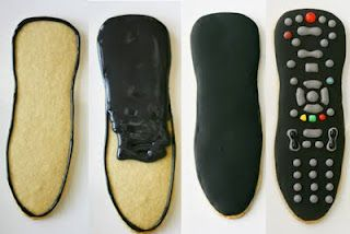 Remote Control Father's Day Cookies. This would be kind of hard with all the details in the end. But would be kind of fun!