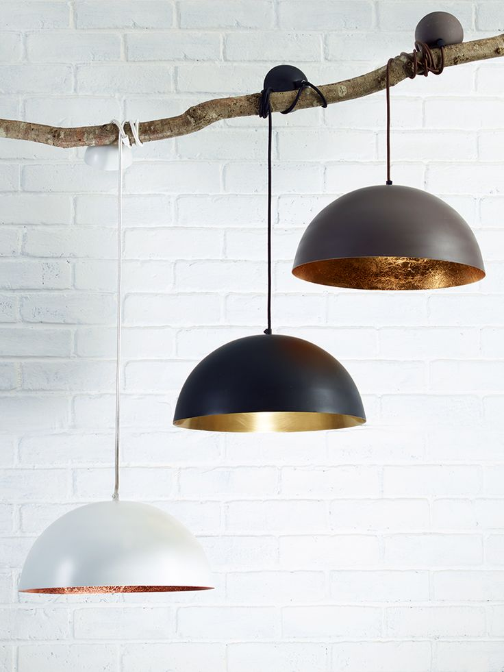 White & Copper Pendant Lightshade