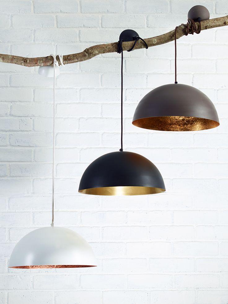 Black & Gold Pendant Lightshade Ceiling Lights