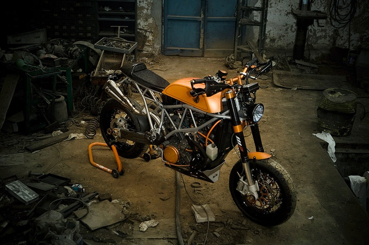 "KTM 950 Supermoto ""Miss Hyde""  In my opinion a hideous rebuild KTM, but still an interesting bike."