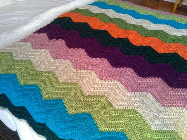 My first attempt at Chevron blankets