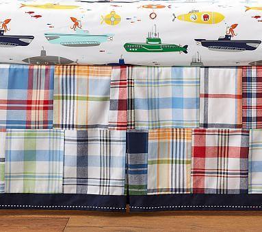 Allover Madras Crib Skirt #pbkids