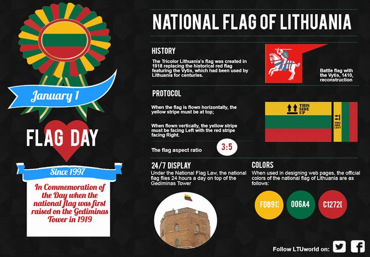The National Flag of Lithuania.