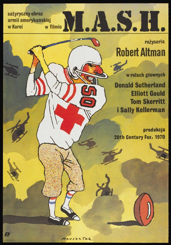 Directed by Robert Altman.  With Donald Sutherland, Elliott Gould, Tom Skerritt, Sally Kellerman. The staff of a Korean War field hospital use humor and high jinks to keep their sanity in the face of the horror of war.
