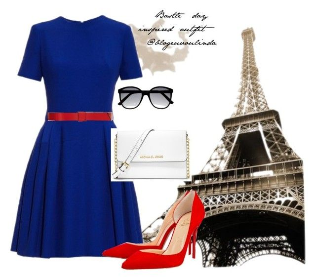 Bastile day inspired. by danimateus on Polyvore featuring polyvore, fashion, style, Alexander McQueen, MICHAEL Michael Kors and Marni
