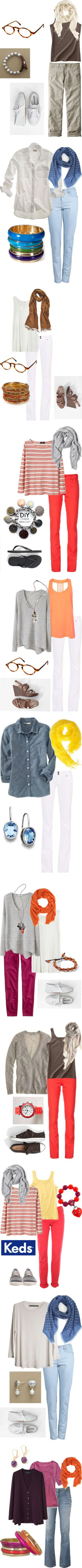 Is it Summer Yet? by simple-wardrobe on Polyvore featuring мода, Uniqlo, J.Jill, H&M, THVM, Madewell, Antik Batik, Hudson Jeans, Vanessa Bruno and PASHMINA ART