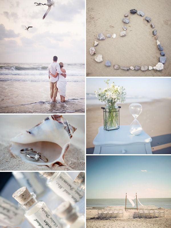 Renewing wedding vows - Beach I would LOVE this on 25th anniversary