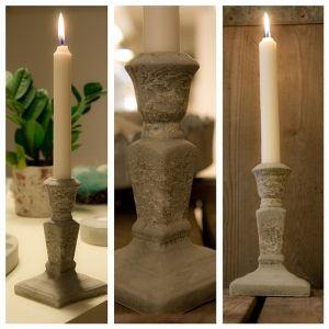 Ljusstake i betong. Candle holder, concrete