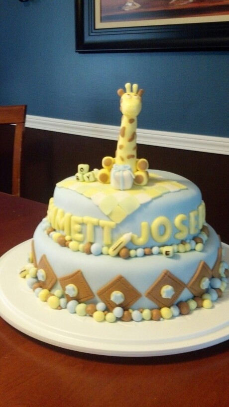 Giraffe Baby Shower Cake My Friend S Niece Wanted A Giraffe Theme So I ..., Giraffe  Baby Shower Cake Giraffe Themed Baby Shower Made To Match ..., Giraffe ...