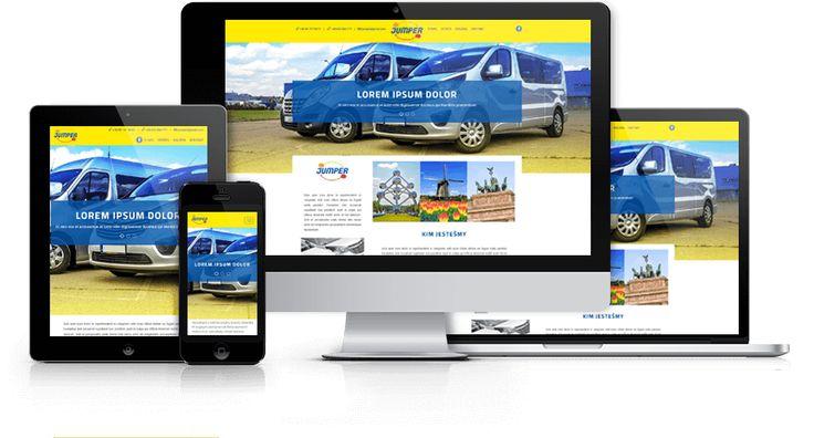 Strona responsywna zaprojektowana i wykonana przez WiWi dla firmy transportowej Jumper