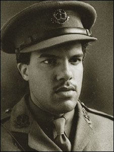 """Walter Tull is my unsung hero because he broke down the colour bar in the army by becoming the first black infantry officer during the First World War. He was recommended for a Military Cross for his bravery. He died at the Second Battle of the Somme. He was also a professional footballer for Spurs and Northampton Town. Phil Vasili, London."""