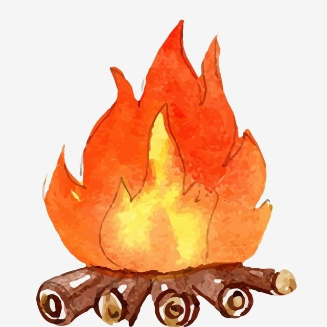 Flame Burning Wood Red Flame Fire Fire Clipart Hand Painted Bonfire Cartoon Illustration Png And Vector With Transparent Background For Free Download Fire Drawing Cute Bear Drawings Fire Art
