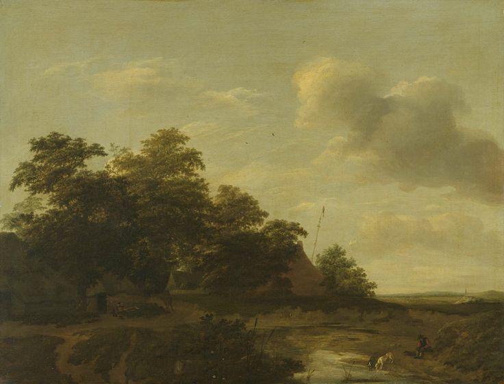 Landschap met boerderij, Jan Vermeer van Haarlem (I), 1648