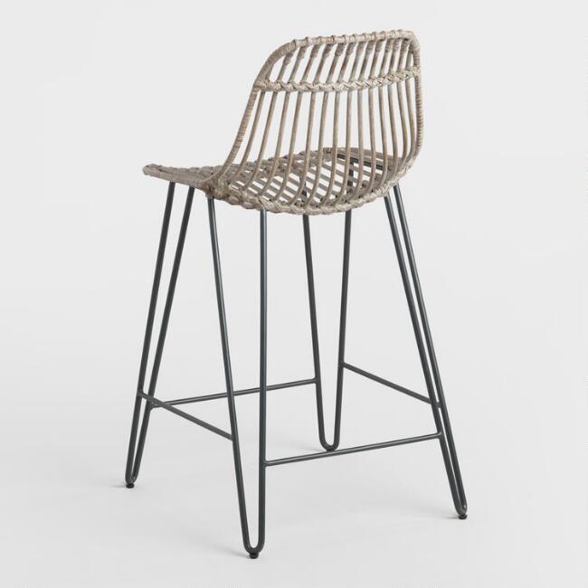 Astonishing Gray Flynn Hairpin Counter Stools Set Of 2 V4 Binder Pdpeps Interior Chair Design Pdpepsorg