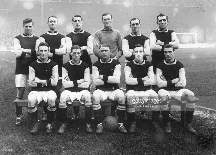 Burnley FC 1920 football team. Back row left to right Watson, Smelt, Jones, Dawson, Boyle, Halley. Front row Nesbitt, Kelly, Anderson, Cross, Weaver.