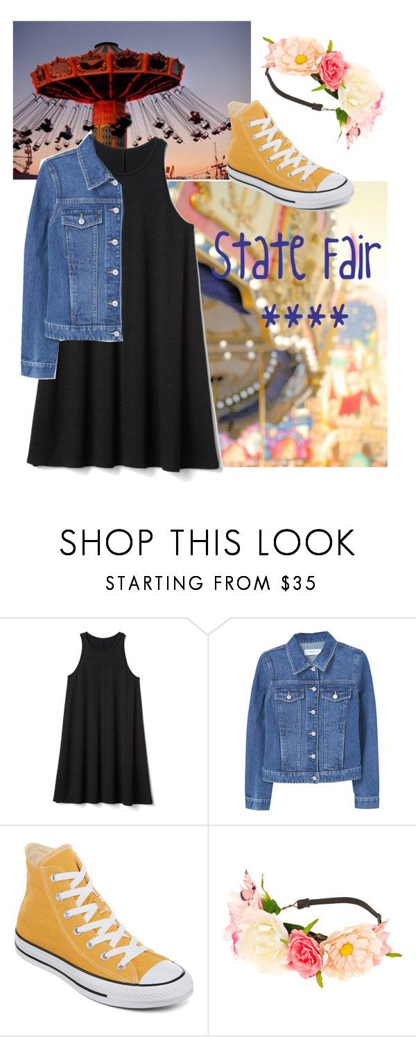 """""""State Fair Outfit"""" by ash-spacecadet ❤ liked on Polyvore featuring Gap, MANGO, Converse and claire's"""
