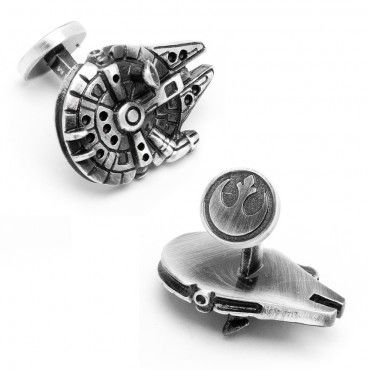 The men who shine are usually the well dressed and groomed. What you wear and how you wear it adds to the classiness look which creates an aura of supremacy. Purchase your first star wars cufflinks, starting with a distinguishing pair of 3D Palladium Millenium Falcon Cufflinks.