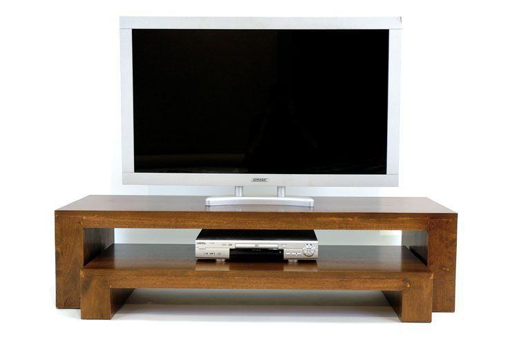 Meuble Tv 2 Elements Hevea Olga 140cm Meuble Tv Meuble Bois Massif Mobilier De Salon