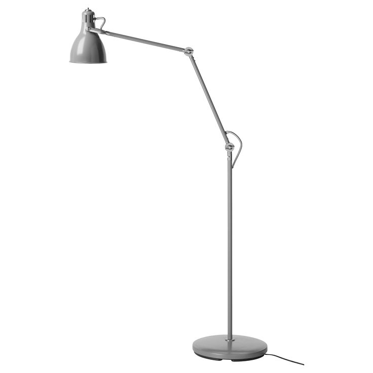"ARÖD Floor/reading lamp - IKEA   $50  Height: 49 ½ "" Base diameter: 11 "" Shade diameter: 6 "" Cord length: 6 ' 6 """