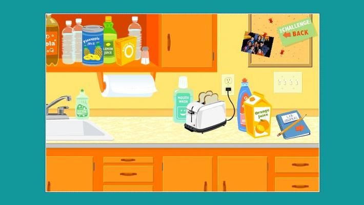 Acids and bases react with other chemicals in predictable ways. This interactive activity from the ZOOM website allows you to conduct virtual experiments on various solutions to determine if they're acidic or basic. In one experiment, you can test the acidity of different household substances by trying to launch a virtual cork rocket.