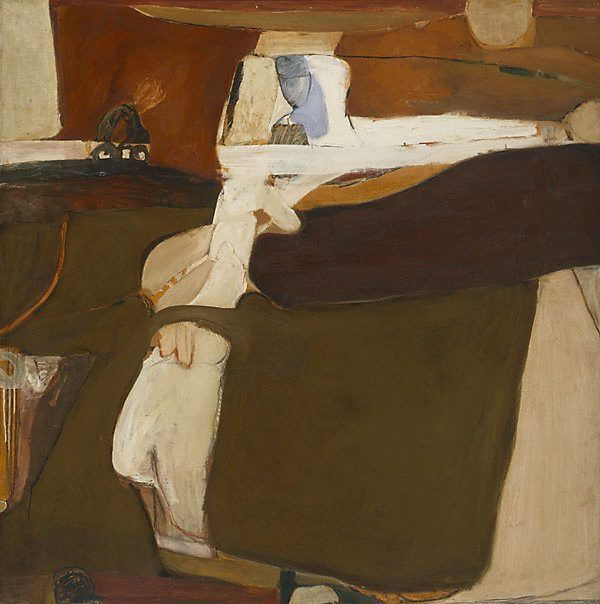 Untitled painting, (1961) by Brett Whiteley :: The Collection :: Art Gallery NSW