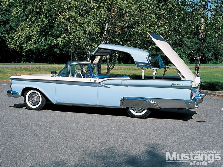 If you were born in 1959, that year the Ford Skylark was pretty cool to watch if it was one of the hard-top convertibles - the whole top went back into the trunk area on electricity - it was an attempt to still have a convertible but not have the rag top which took a lot of beating from wreathing - this puppy sure was fun to watch go up and down! ~ I remember this car as an 8 year old but as a Ford Fairlane rather than a Skylark which I knew later as a model of Buick. But loved this car!!!
