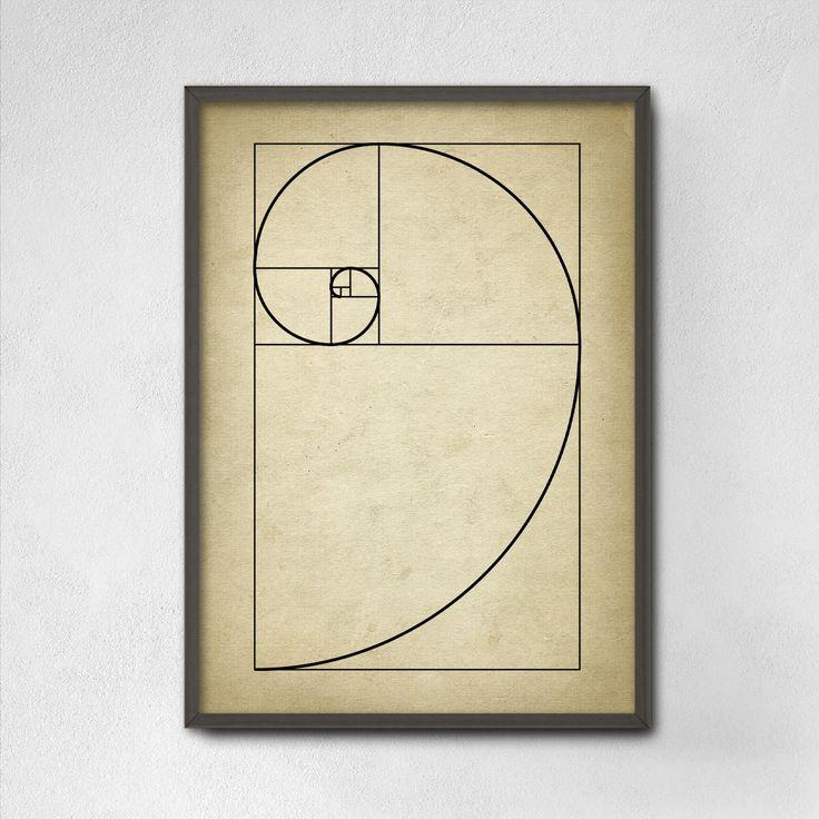 Fibonacci Spiral Wall Art Poster - Mathematics Fibonacci Numbers - Fibonacci Sequence - Golden Ratio Spiral - Mathematics Student Print by QuantumPrints on Etsy https://www.etsy.com/listing/268330292/fibonacci-spiral-wall-art-poster