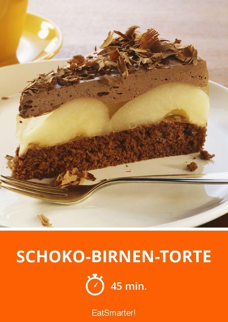 Schoko-Birnen-Torte - smarter - Zeit: 45 Min. | eatsmarter.de