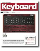 Diva Review in Keyboard Magazine May 2012