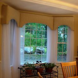 Cornice Board Over Panels In A Bay Window | Cornices On A Bay Window