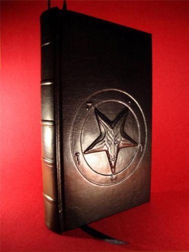 Leather Bound THE SATANIC BIBLE by ANTON LAVEY Church of Satan BAPHOMET | eBay