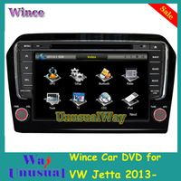 Free Shipping Professional Wince Car Entertainment System Multimedia DVD Player For VW Jetta 2013- With GPS Navigation Free Map