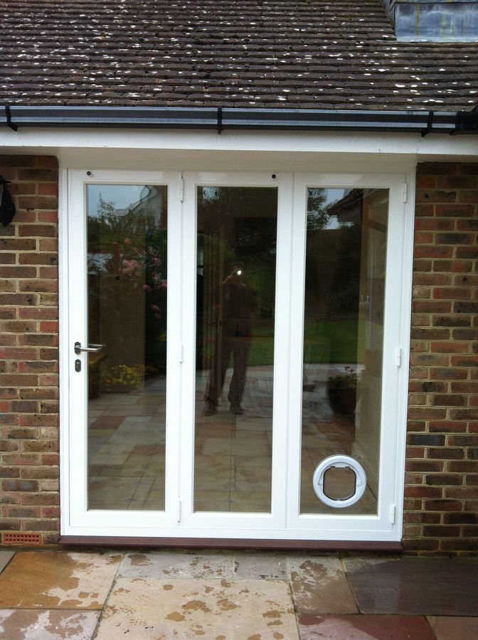 Magnificent A Seamless Doggy Door Install Into Glass Patio Dog
