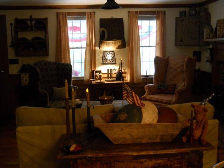 Love it  Primitive FurniturePrimitive DecorCountry DecorCountry  HomesCountry LivingPrimitives85 best PRIMITIVE LIVING ROOMS images on Pinterest   Primitive  . Primitive Decorating Ideas For Living Room. Home Design Ideas