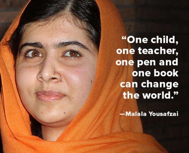 Quote of the Week: Malala Yousafzai - Biography.com