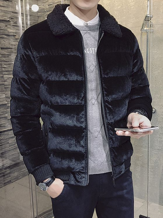 07e4cc4fad7f Wholesale Winter Solid Fitted Thicken Coat For Men DHG100529