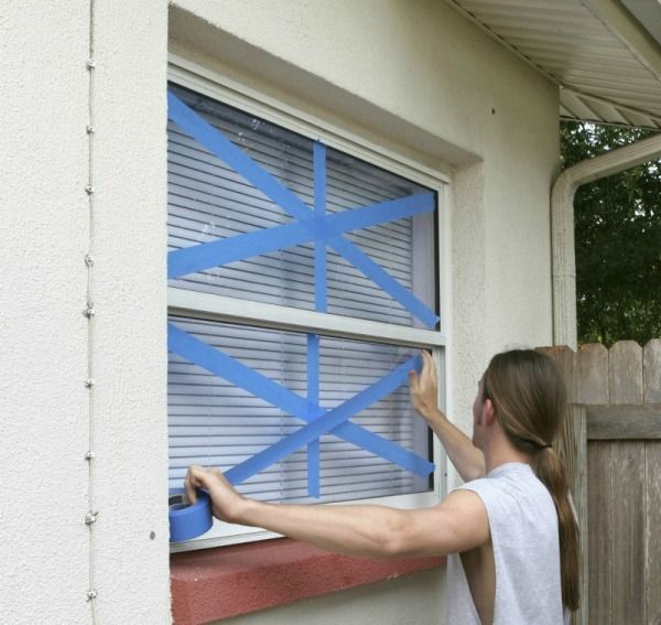 use fingernail polish to remove tape residue from windows. I just tried it and it worked like a charm! (The info is kind of hidden on the page, but it is there)