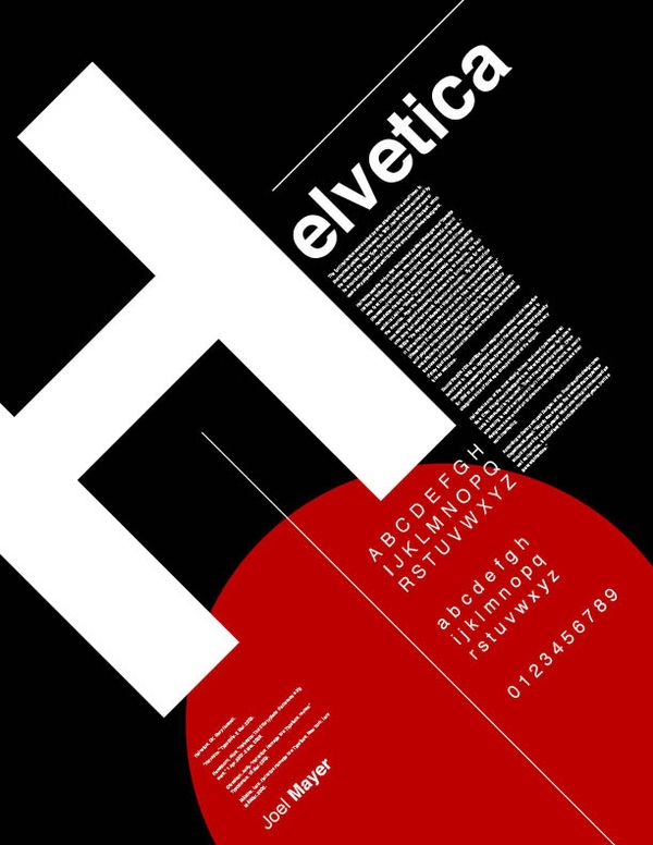 Typographic Posters by Joel Mayer, via Behance