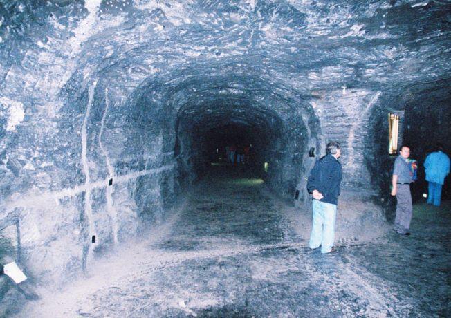 Catedral de sal. Zipaquira. Colombia. Salt mine tunnels.