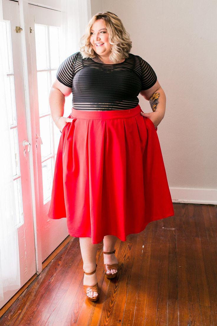 Plus Size Clothing for Women - The Kate Midington - Red - Society+ - Society Plus - Buy Online Now! - 1