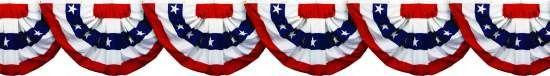 Patriotic - Patriotic Bunting Border Roll