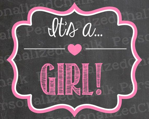 It's a Girl or It's a Boy Pregnancy by PersonalizedChalk on Etsy, $6.00