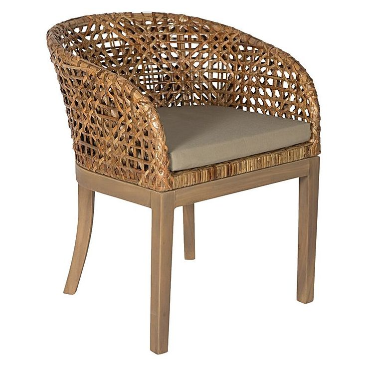 Add texture into your décor with the woven reclaimed mahogany wood of the lovely Domonic Armchair fro Casa Uno.