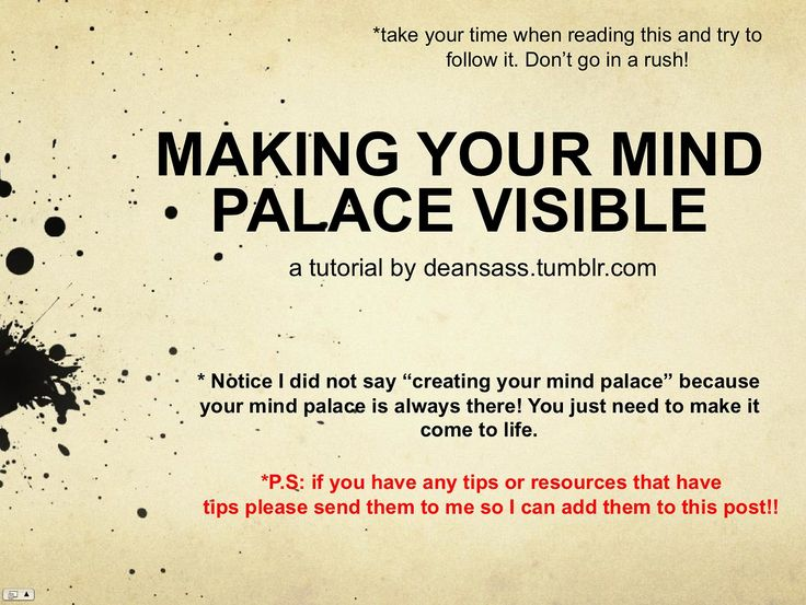 Making your Mind Palace Visible - great way to organize your mind to work for you the way it should