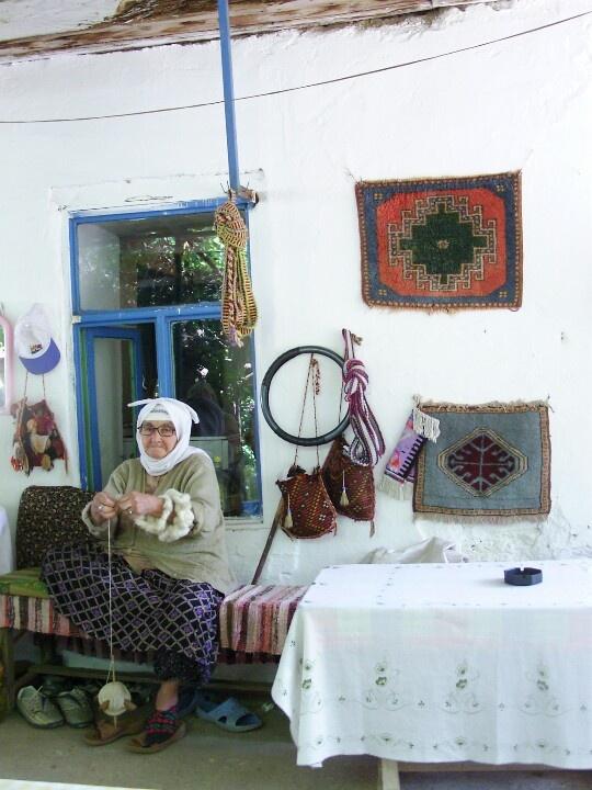 Lady in Turkish Village
