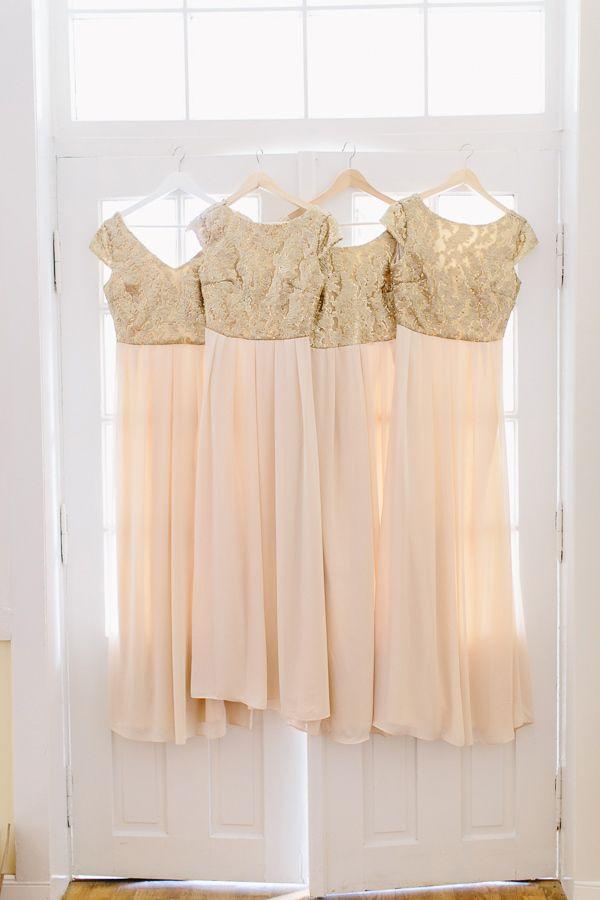 #blush #gold #bridesmaid #dress #dresses // #wedding #details