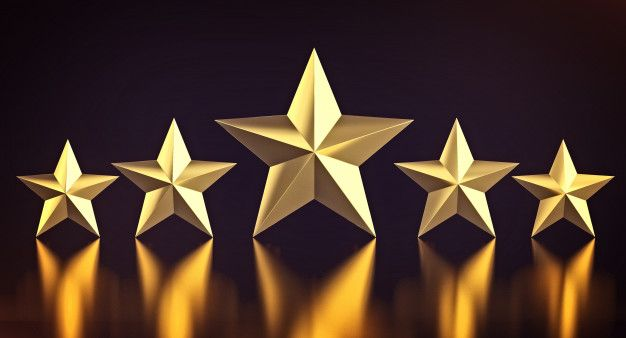 5 Estrelas Douradas Estrelas Douradas Estrelas