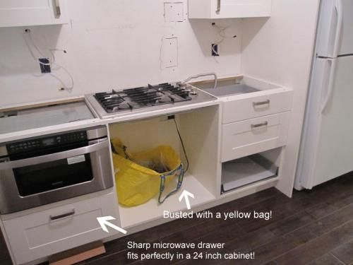 Which Ikea Cabinet For Sharp Microwave Drawer Real World Example Of Draw Microwave Ikea Cabs