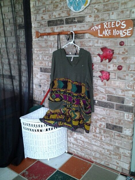 shabby chic / Eco  /  upcycled / tunic / dress / artsy